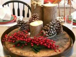 Новогодние сосновые шишки для декора - фото 3