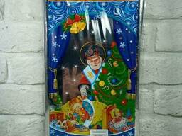 Новогодняя подарочная упаковка для конфет 20см 35см Св. Николай (100 шт)