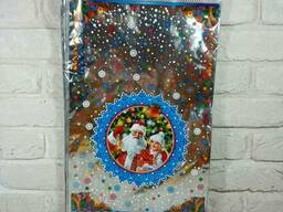 Новогодняя подарочная упаковка для конфет 30см 50см Новый Дед Мороз и Снегурочка (100 шт)