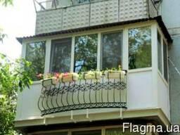 Новый балкон - надежность и практичность.