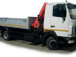 Новый грузовой автомобиль МАЗ 4940N2 с краном манипулятором