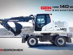 Новый колесный экскаватор Hidromek HMK 140W