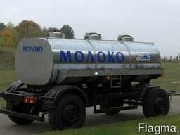 Новый прицеп-молоковоз ПЦИП-7, 7 на шасси МАЗ