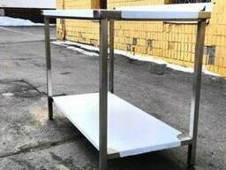Изготовим стол из нержавейки 1800*700*850 с бортом и полкой
