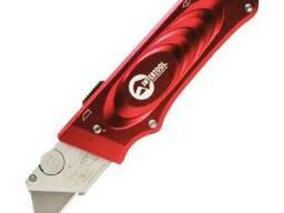 Нож с выдвижным трапециевидным лезвием, металлический. ..