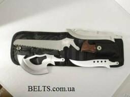 Нож со сменным лезвиями, туристический набор 4 в 1 (Knife) П