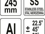 Ножиці для пластику, гуми, вінілу YATO 245 мм, для різання під кутом 22.5° і 45°, CrV - фото 1