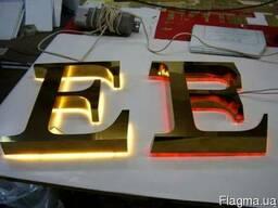Объемные буквы из металла, вывески, таблички