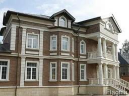Облицовка фасадов домов (шамотная керамика)