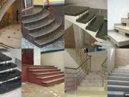 Облицовка камнем лестниц, облицовка камнем крылец Киев