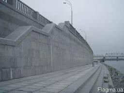 Облицовочный гранит, облицовка подпорных стен
