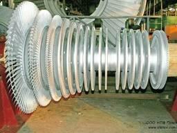 Облопачивание рабочих колес роторов, лопатки