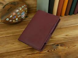 Обложка для ежедневника формата А5, Модель № 12, кожа Grand, цвет Бордо