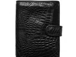 Обложка для паспорта с крокодила черная xtclthrcp01