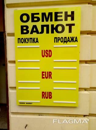 Обмен валют (стенды, штендеры, стеллы и т. п. )