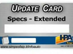 Обновление базы данных стенда развал-схождения HPA C200. ..