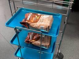 Візок на три підноси для сервіровки столові, кафе