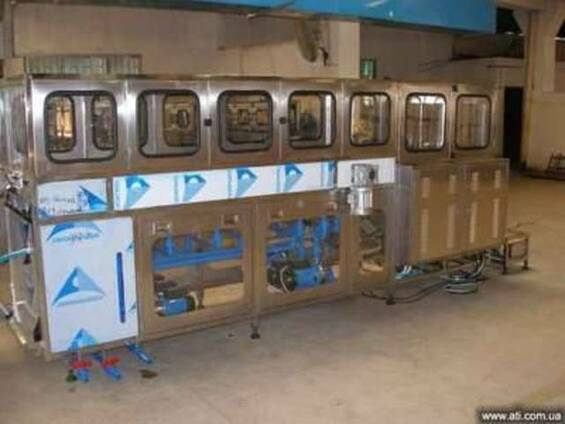 Оборудование розлива воды в 19л.бутыли