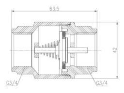 "Обратный клапан SD Forte 3/4"" EURO SF247W20"