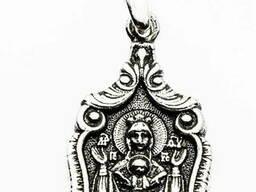 Образок подвес серебряный Икона Божией Матери Неупиваемая Чаша