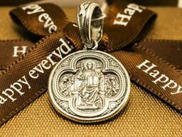 Образок серебряный Деисус Икона Божией Матери Неупиваемая Чаша