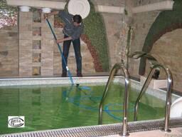 Обслуживание бассейнов, фонтанов, прудов и других аквасооруж