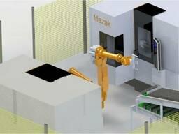 Обслуживание станков роботом Nachi