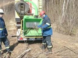 Очистка магистралей ЛЭП, полей от древесно-кустарников