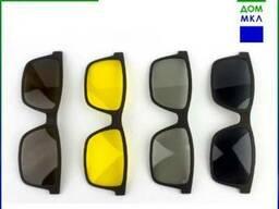 Очки-антифары (4 шт. клипона в комплекте) Blue blocker