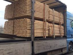 Оцилиндрованные колья(machine rounded poles/postes torneados