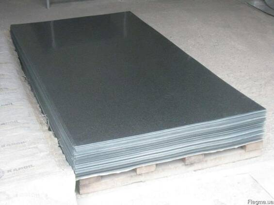 Листовая сталь оцинкованная, 1250х2500х1,2 мм