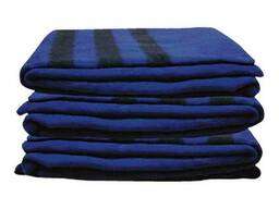Одеяло армейское полушерстяное синее 205*130