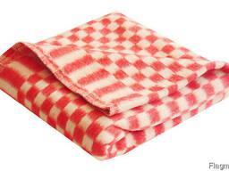 Одеяло клетка 100% хлопок для больниц, общежитий