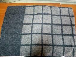 Одеяло полушерстяное в клетку 50% шерсти 140х205 см