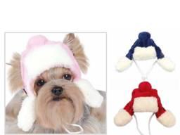 Одежда для собак, шапка зимняя, маленькие собачки