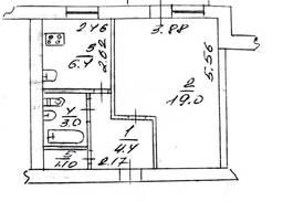 Однокомнатная квартира, Даманский, все рядом, встр. кухня