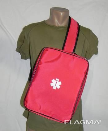 Однолямочная сумка-рюкзак медицинская оперативная RVL красная.