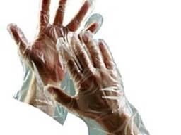 Полиэтиленовые перчатки, 100 шт\упак