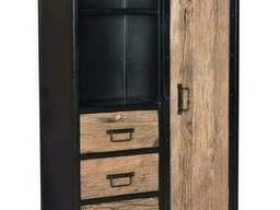 Офисный шкаф в стиле лофт из натурального дерева
