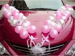 Оформление шарами, украшение машины