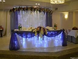 Оформление свадьбы, зала! Свадебная арка. Президиум. Ширма.