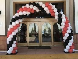 Оформление воздушными шарами открытия магазинов, салонов