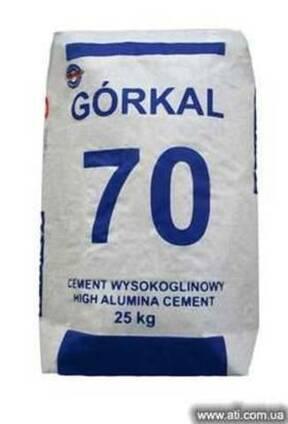 Огнестойкий высокоглиноземистый цемент Gorkal 70.