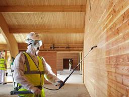 Огнезащита деревянных поверхностей