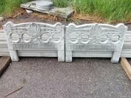Оградка бетонная