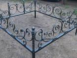 Ковані огорожі на цвинтар, столи. Буча, Озера, Ірпінь, Рубежівка - фото 2