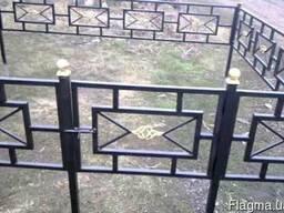 Оградки на кладбища могилы кованые и металлические изготовле