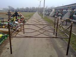 Оградки ритуальные на кладбище Одесса