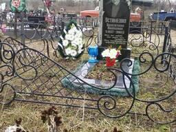 Ограды на кладбище,бетонные площадки их облицовка,памятники