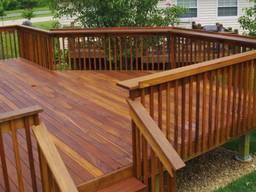 Ограждение для террасы или балкона из дерева под заказ